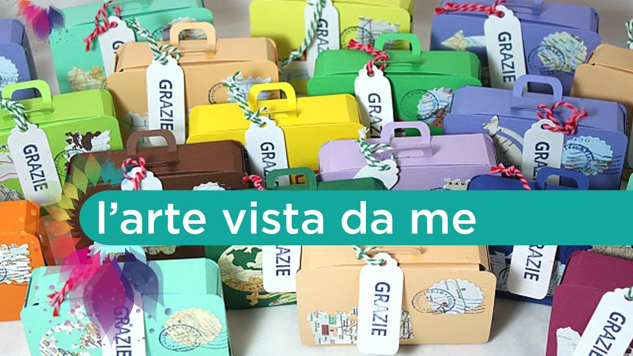 Eccezionale Scatola Valigia Tutorial-Mini suitcase Box-Sizzix XL Die 657124  ET79
