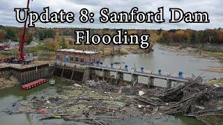 Update 8: Sanford Flood 2020 - Drone - Dam Collapse