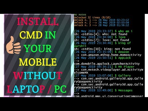 Use CMD   in your Android  Mobile Phones  without   PC/ LAPTOP Urdu /Hindi