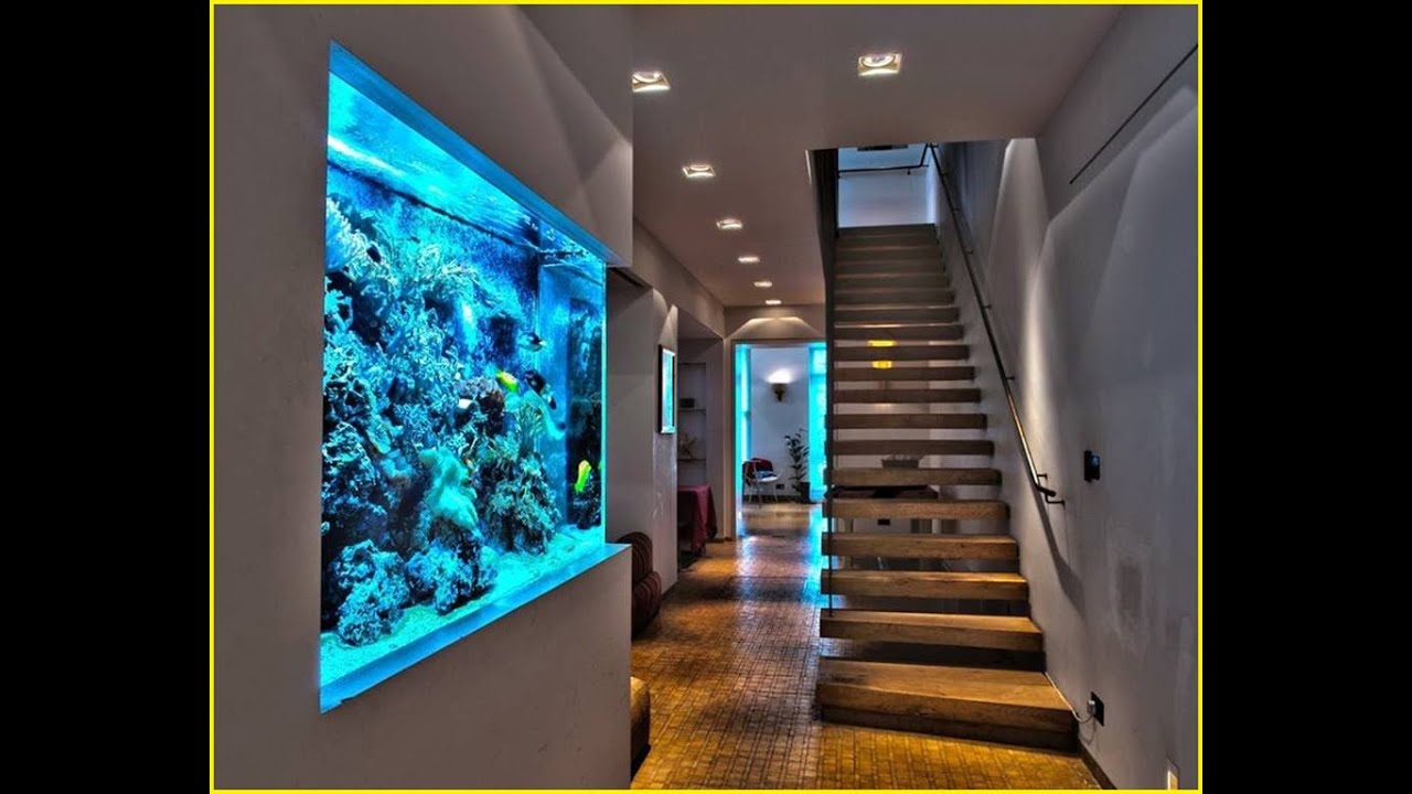 22 extremely interesting ideas to put aquarium in interior for Aquarium interieur