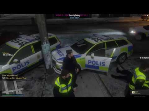 Swedish roleplay server Fivem (Svenska) #1 lite brott