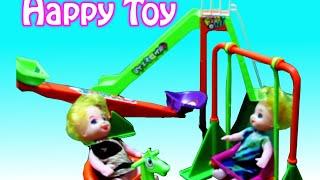 Mainan Anak Boneka Ayunan - Kuda Kudaan Kayu - Seluncuran Asik - Toy Swing For Baby Doll