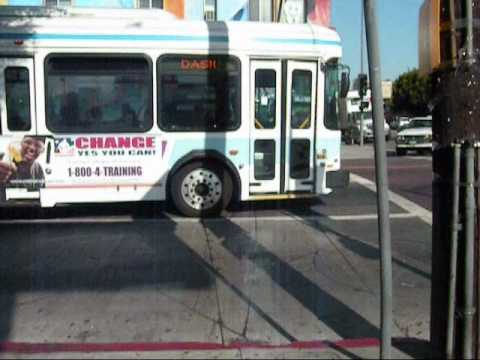 Ladot Dash Buses At Echo Park.