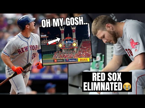 Pete Alonso Hits Home Run OUT OF STADIUM? Red Sox Eliminated, Braves Clinch (MLB Recap)