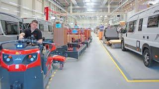 Routenzug Factory Train bei Dethleffs GmbH & Co. KG in Isny