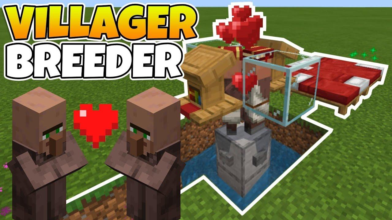 EASY! Villager Breeder Minecraft Bedrock! Villager Breeder Tutorial 122.1226  (MCPE/XBOX) Working 122.1226!