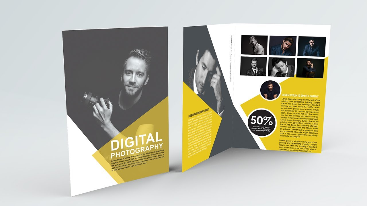 Photography Bifold Brochure Design | Photoshop Tutorials