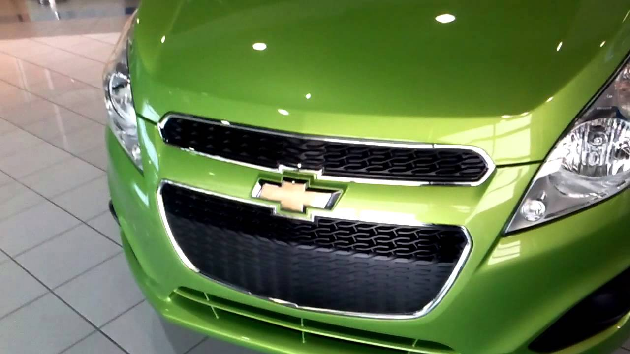 Chevy spark walk around Lime green  YouTube
