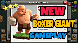 New *BOXER GIANT* Attack Strategies || How To Use BOXER GIANTS? || NEW BUILDER BASE UPDATE 2017