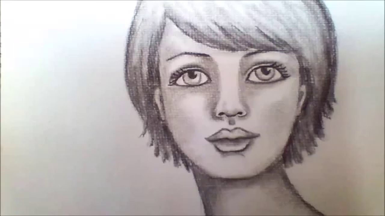 Face Of A Girl How To Draw & Shade