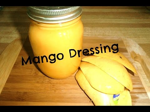 Easy Oil Free Mango Dressing