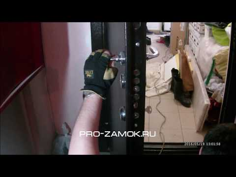 Видео для PRO-ZAMOK.RU Замена замка в двери Эльбор Люкс на итальянский замок Mottura