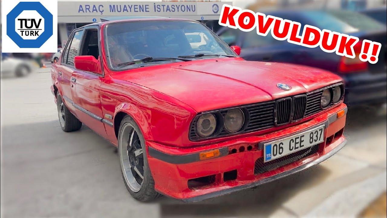 7500TL'ye ALDIĞIM BMW E30 TÜVTÜRK MUAYENE'ye GİRDİK (KOVULDUK)