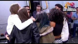 Little Mix, Haim & Jessie Ware together backstage at Radio 1