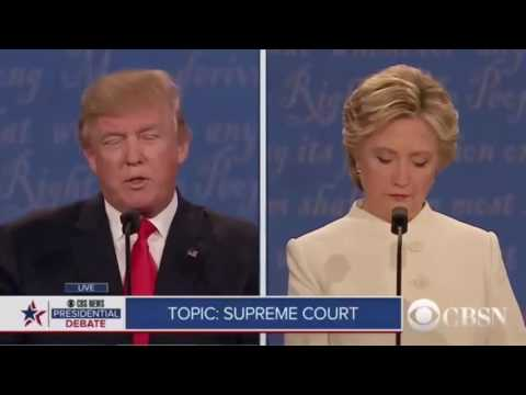 Learning English with The Future American President  Hilary Clinton vs Donald Trump 24/10