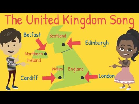 United Kingdom Song - A fun kid's song about the UK and its capitals