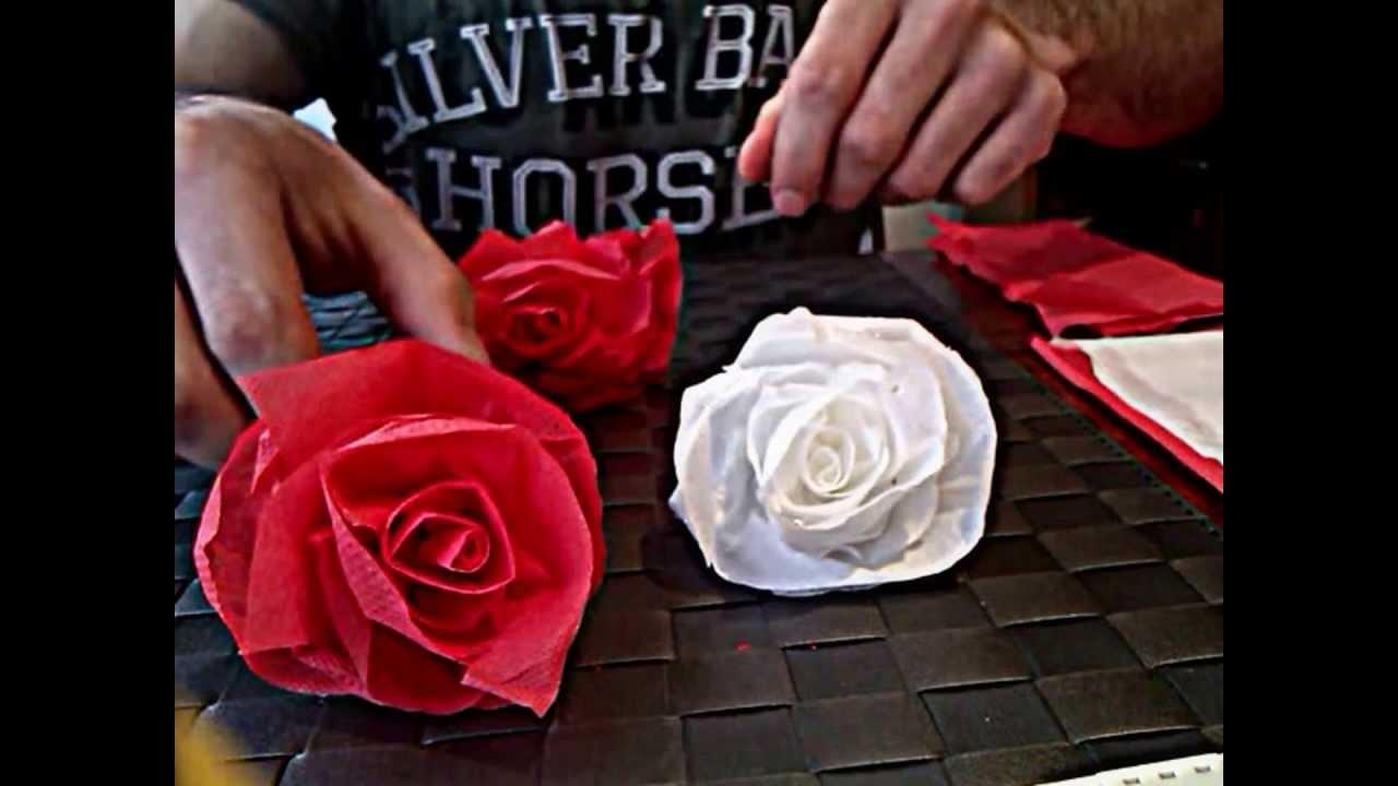 C mo hacer una rosa de papel muy facil youtube - Como secar una rosa ...