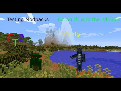 Testing Modpacks FTB Infinity with no texture pack