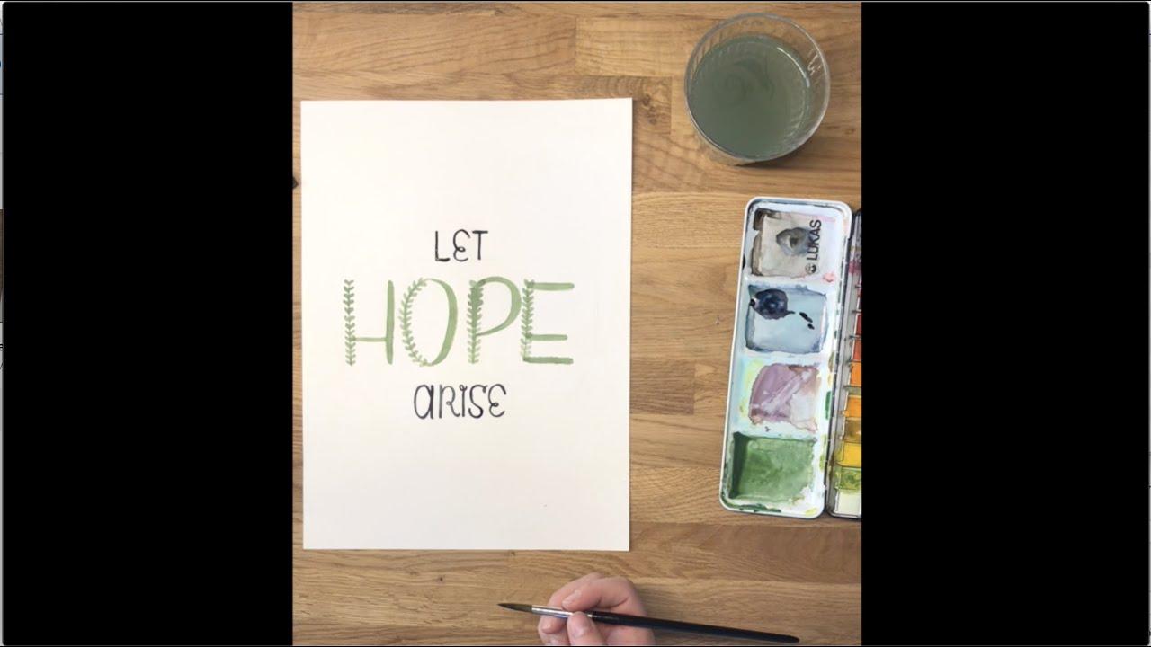 30 Min Lettering Projekt