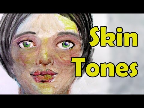 How to paint skin tones | Wax pastel crayons tutorial | painting tutorials step by step by AyalaArt
