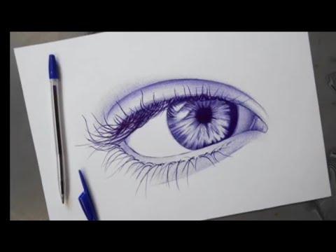 Comment dessiner un œil avec un stylo