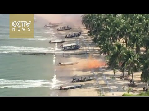 China-Russia joint naval drill in 90 seconds