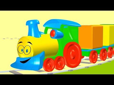 Cube Train Puzzle Game! Construct a Kids Color Cube Column Demo (xây dựng tháp màu trẻ em câu đố