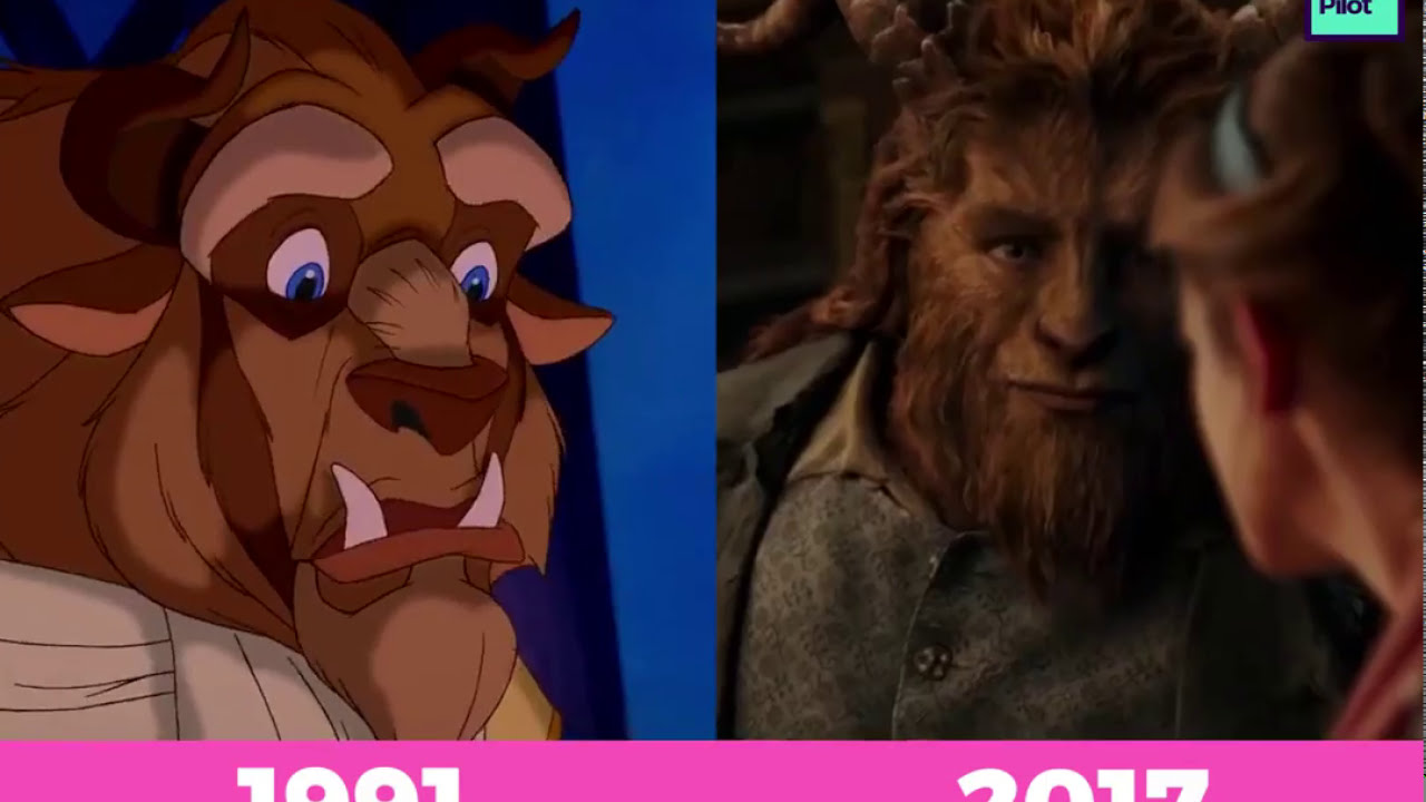 Image Result For Beauty And The Beast Trailer Vs Comparisonside By Side