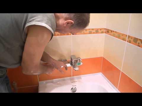 Установка смесителя на ванну