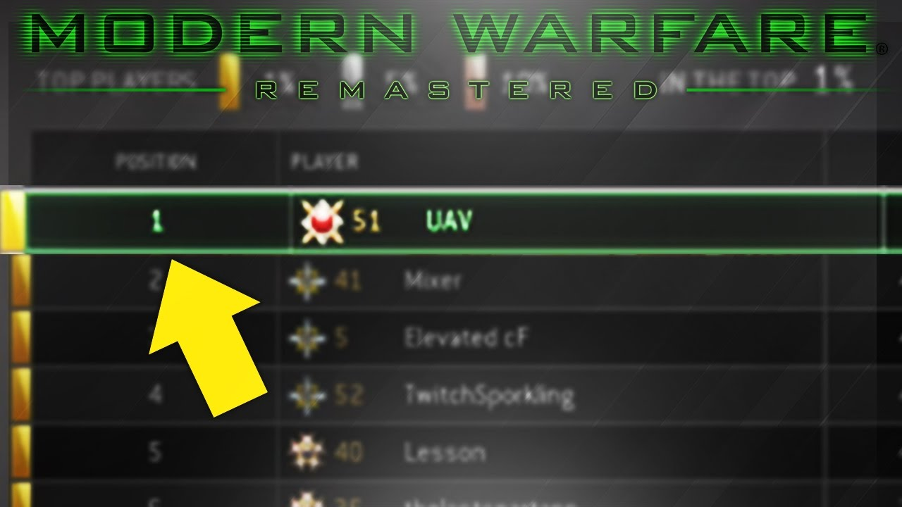 #1 RANKED MWR ACCOUNT! - BEST COD Modern Warfare Remastered PLAYER IN THE WORLD! MWR #1 ...