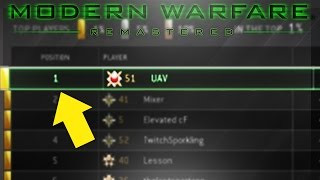 #1 RANKED MWR ACCOUNT! - BEST COD Modern Warfare Remastered PLAYER IN THE WORLD! MWR #1 Leaderboards
