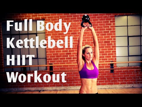 32 Minute Full Body Kettlebell HIIT Workout For Strength & Cardio