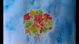 Как нарисовать осенний букет(Простой видео урок на осеннюю тему., 2016-07-24T04:07:49.000Z)