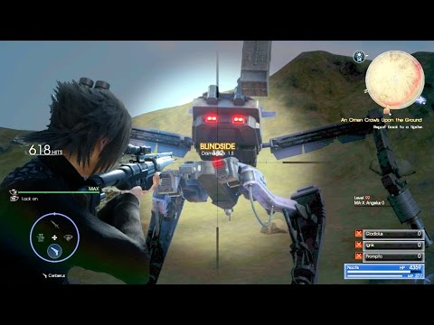 Final Fantasy XV Easily Defeat MA-X ANGELUS-O level 99 Secret Boss w/ Only Sniper Rifle
