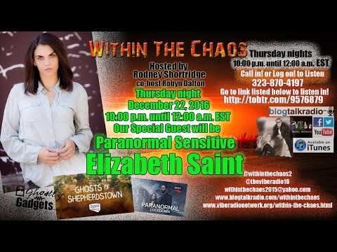 Within The Chaos Special Guest Elizabeth Saint 122216