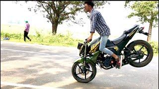 Bike stunt   New Video 2017   YAMAHA FZ-S 150 ft. AVRAJ MUNDI Latest Video Drifting amazing Video
