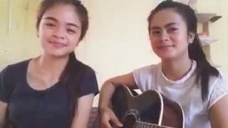 Duo ghea || gak bosan-bosannya gadis Nias ini nyanyikan lagu Batak,,,,,,,
