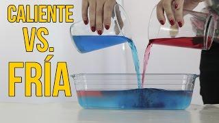 Esto es lo que ocurre cuando mezclas agua caliente con agua fría