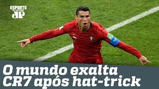 MONSTRO! O mundo EXALTA CR7 após hat-trick na ESPANHA!