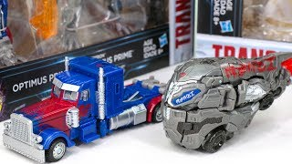 Transformers 5 Movie TLK Optimus Prime History Cybertorn Deluxe 2 pack Vehicle Car Robot Toys