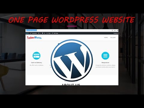 How to Create a One page website for free using OnePress Theme