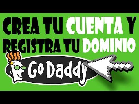 Como crear una cuenta y registrar un dominio en Godaddy en español