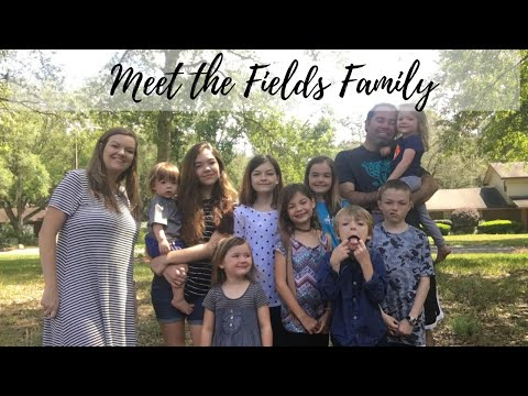 Large Family Introduction || Meet The Fields Family || Large Family Vlog