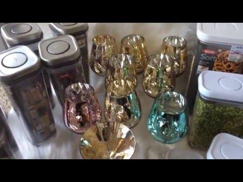 TJ Maxx Marshall's HomeGoods Kitchen and Glassware Haul