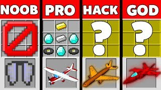 Minecraft Battle: NOOB vs PRO vs HACKER vs GOD : SUPER PLANE Challenge in Minecraft Animation