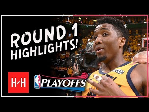 MVP MODE! Donovan Mitchell Full ROUND 1 Highlights Vs OKC Thunder | All GAMES - 2018 Playoffs