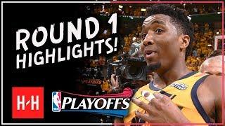 MVP MODE! Donovan Mitchell Full ROUND 1 Highlights vs OKC Thunder | All GAMES - 2018 Playoffs