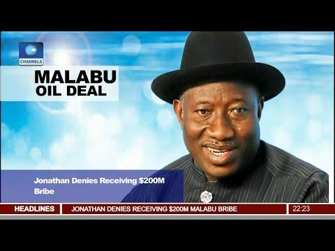 News@10: Jonathan Denies Receiving $200M Bribe From Malubu Oil Deal 12/04/17 Pt 2