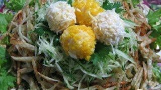 Салат Гнездышко  Рецепт салата