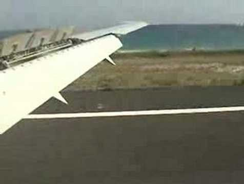 Landing in SXM, Air Canada 767 from YYZ